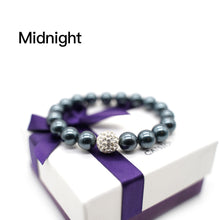Load image into Gallery viewer, CatstoneNYC Midnight Gemstone Round Beads Stretch Bracelet - Catstone NYC