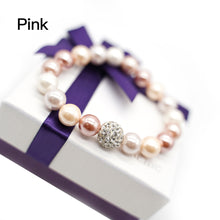 Load image into Gallery viewer, CatstoneNYC Pink Round Beads Stretch Bracelet - Catstone NYC