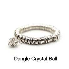 Load image into Gallery viewer, CatstoneNYC Dangle Crystal Ball Charm Stainless Steel Bracelet - Catstone NYC