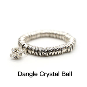 CatstoneNYC Dangle Crystal Ball Charm Stainless Steel Bracelet,Best Gift for Birthday, Valentine' Day, Mother's Day
