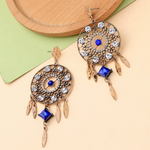 CatstoneNYC Gold Dangle Dream Catcher Earrings - Catstone NYC