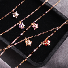 Load image into Gallery viewer, CatstoneNYC Chic Style Gold Plated Pink Crystal Star Pendant Necklace, Delicate Mini Charm Great for Women and Girls, Gift, Birthday, Anniversary - Catstone NYC