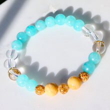 Load image into Gallery viewer, CatstoneNYC May Birthstone Amazonite Bracelet for Men and Women - Catstone NYC