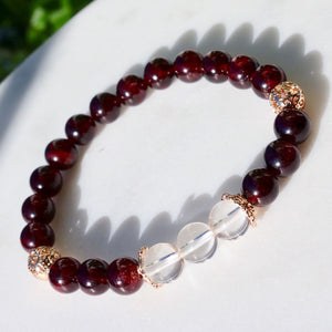 CatstoneNYC January Birthstone Garnet Bracelet for Women - Catstone NYC