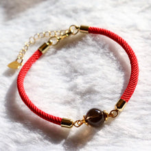 "Load image into Gallery viewer, CatstoneNYC ""Good Fortune"" Black Onyx Red Bracelet - Catstone NYC"
