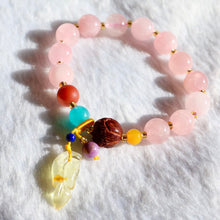 Load image into Gallery viewer, CatstoneNYC Rose Quartz Crystal Gemstone Bracelet - Catstone NYC