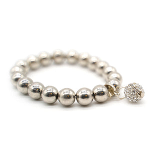 CatstoneNYC Chain Link Spacer Beaded Stainless Steel Bracelet - Catstone NYC