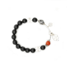Load image into Gallery viewer, CatstoneNYC Dangling Clover and Black Onyx Protection Bracelet - Catstone NYC
