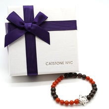 Load image into Gallery viewer, CatstoneNYC Black Onyx And Red Agate Crystal Protection Bracelet - Catstone NYC