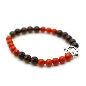 CatstoneNYC Black Onyx And Red Agate Crystal Protection Bracelet - Catstone NYC