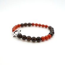 "Load image into Gallery viewer, CatstoneNYC ""Year of the Pig"" Protection and Good Luck, Black Onyx And Red Agate Crystal Bracelet, For Men and Women, 8mm - Catstone NYC"