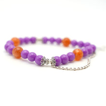 Load image into Gallery viewer, CatstoneNYC Red Agate and Purple Crystal Healing Bracelet - Catstone NYC