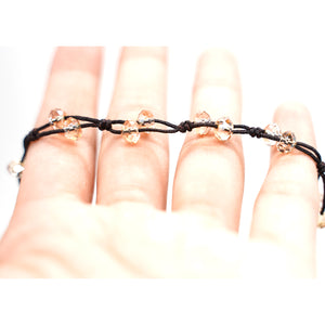 CatstoneNYC Cacoxenite Brown Crystal String Bracelet for Women and Men - Catstone NYC