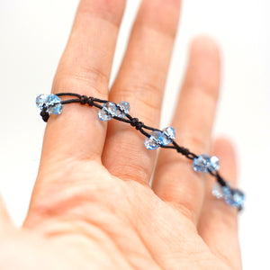 CatstoneNYC Celestite Blue Crystal String Bracelet for Women and Men - Catstone NYC