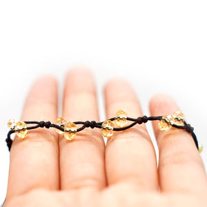 CatstoneNYC Citrine Crystal String Bracelet for Women and Men - Catstone NYC