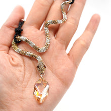 Load image into Gallery viewer, CatstoneNYC Citrine Crystal Snake Pendant Necklace for Women - Catstone NYC
