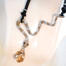 Load image into Gallery viewer, CatstoneNYC Citrine Crystal Snake Pendant Necklace for Women