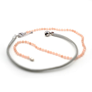 CatstoneNYC Rose Quartz Pink Bead Crystal Wrap Bracelet for Women and Men