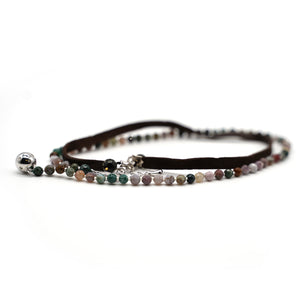 CatstoneNYC Multicolor Bead Faux Leather Wrap Bracelet for Women and Men
