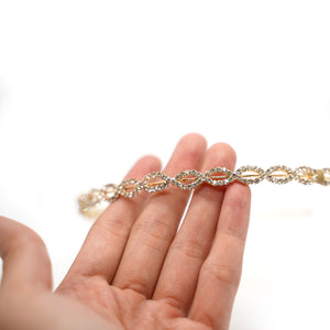 Gold Plated Mini Oval Crystal Hairband - Catstone NYC