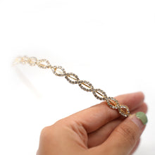 Load image into Gallery viewer, Gold Plated Mini Oval Crystal Hairband - Catstone NYC