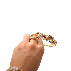 Gold Plated Citrine Crystal Bracelet - Catstone NYC