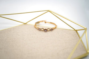 Gold Plated Purple Crystal Bracelet - Catstone NYC