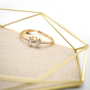 Gold Plated Crystal Bow-knot Bracelet - Catstone NYC