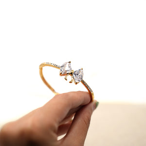 Gold Plated Crystal Bow-knot Bracelet