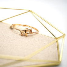 Load image into Gallery viewer, Gold Plated Rectangle Citrine Bracelet