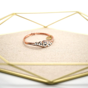 Rose Gold Plated White Crystal Bracelet