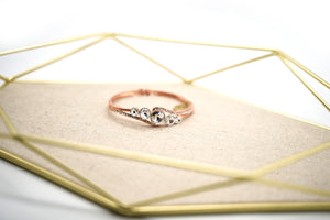 Rose Gold Plated White Crystal Bracelet - Catstone NYC