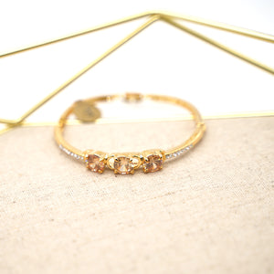 Citrine Crystal Gold Plated Bracelet - Catstone NYC