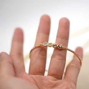 Dainty Mini Crystal Gold Plated Bracelet - Catstone NYC