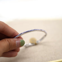 Load image into Gallery viewer, Dainty Purple Crystal Silver Bracelet