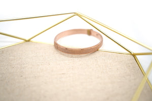 Simple Rose Gold Steel Bangle Bracelet - Catstone NYC