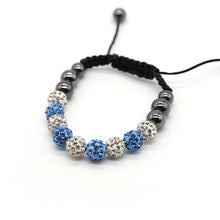 Load image into Gallery viewer, CatstoneNYC Blue and White Rhinestone Beads Bracelet for Women and Men - Catstone NYC