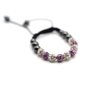 CatstoneNYC Pink and White Rhinestone Beads Bracelet for Women and Men - Catstone NYC