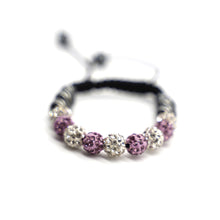 Load image into Gallery viewer, CatstoneNYC Pink and White Rhinestone Beads Bracelet for Women and Men
