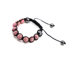 Load image into Gallery viewer, CatstoneNYC Pink Rhinestone Beads Bracelet for Women and Men