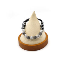 Load image into Gallery viewer, CatstoneNYC Black and White Rhinestone Beads Bracelet for Women and Men