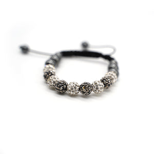 CatstoneNYC Black and White Rhinestone Beads Bracelet for Women and Men - Catstone NYC
