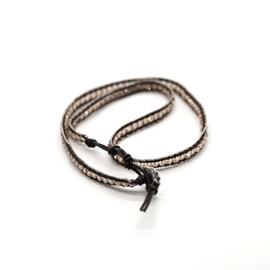 CatstoneNYC Brown Beads Braided Wrap Bracelet for Women and Men