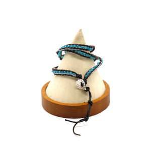 CatstoneNYC Blue Beads Braided Wrap Bracelet for Women and Men - Catstone NYC