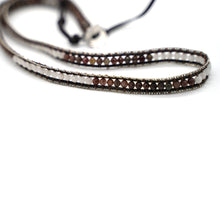 Load image into Gallery viewer, CatstoneNYC Brown and White Beads Braided Wrap Bracelet for Women and Men - Catstone NYC