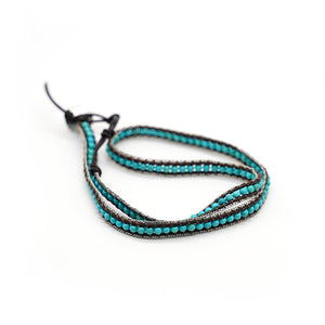 CatstoneNYC Turquoise Beads Braided Wrap Bracelet for Women and Men - Catstone NYC
