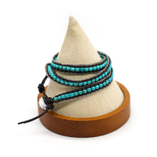 Load image into Gallery viewer, CatstoneNYC Turquoise Beads Braided Wrap Bracelet for Women and Men