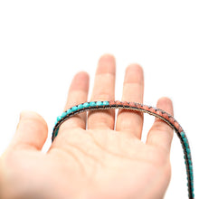 Load image into Gallery viewer, CatstoneNYC Blue and Pink Beads Braided Wrap Bracelet for Women and Men