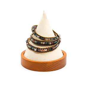 CatstoneNYC Multi-Color Beads Braided Wrap Bracelet for Women and Men - Catstone NYC