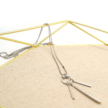 Load image into Gallery viewer, Dangle Stick Vintage Silver Necklace - Catstone NYC